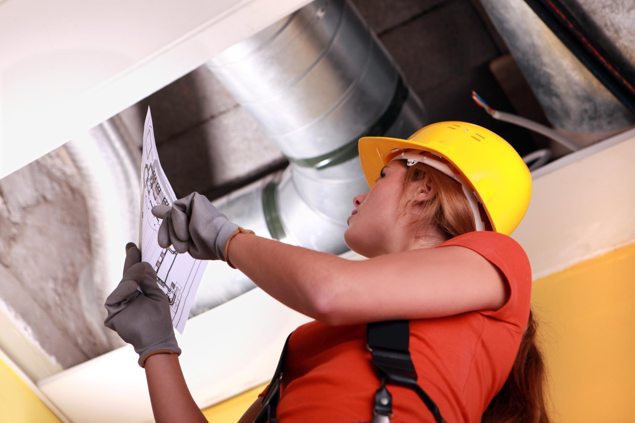 This is a picture of an hvac repair.
